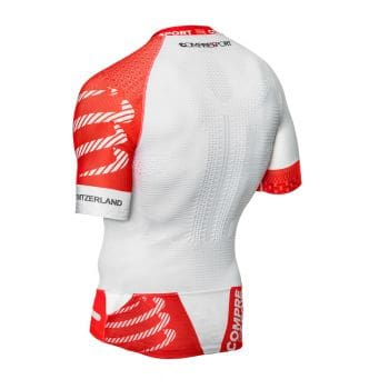 Trail Running Shirt V2 unisex - Compressport - weiß/rot