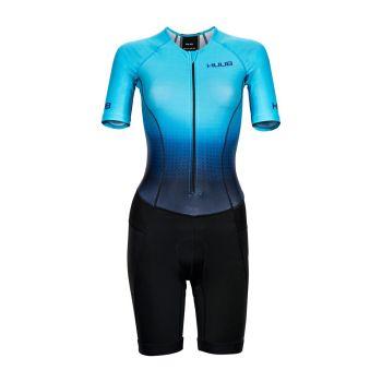 HUUB Commit Long Course Triathlon Suit Damen - hellblau/schwarz