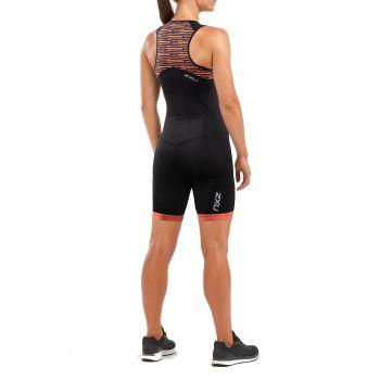 2XU Active Trisuit Damen - schwarz/sherbert line print