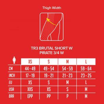 TR3 Brutal Short Women - Compressport - schwarz