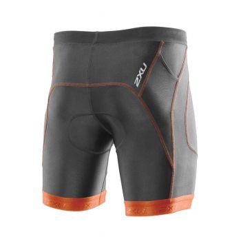 """Perform Triathlonhose 7"""" Herren - 2XU - kohle grau/lotus orange"""