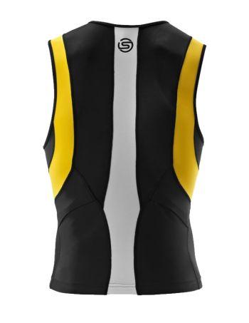 TRI400 Compression Tri Top mit Front RV - SKINS - schwarz/gelb