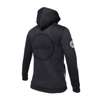 Charcoal Plush Cotton Hoodie Damen - Zone 3 - zm16604
