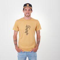 Makana T-Shirt  Herren - endless local - honig/schwarzes logo