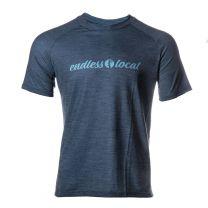 Waipio Performance T-Shirt Herren - endless local - blau/petrol