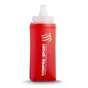 Trinkflasche Ergoflask 300ml - compressport - rot