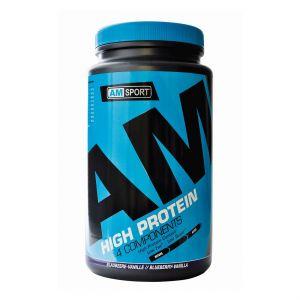 High Protein Shake - AMSport - Blaubeer Vanille 600g Dose