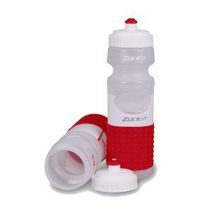 Trinkflasche 750 ml - Zone3 - weiß/rot