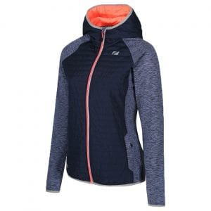 Zone3 Hybrid Puffa Quilted Jacke Damen - navy/coral