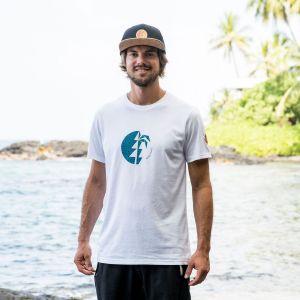 Ipo Kona T-Shirt  Herren - endless local - weiss/blauer print