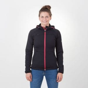 Loa Zip  Hoody Damen - endless local - schwarz/berry