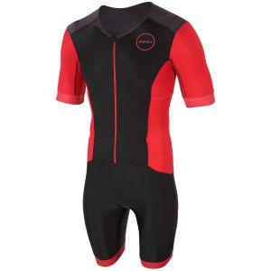 Zone3 Aquaflo+ kurzarm Einteiler Full Zip Herren - schwarz/rot