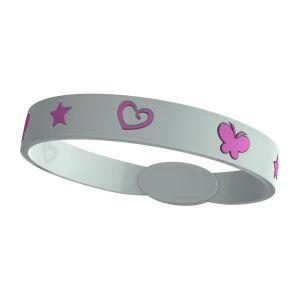 Silikon Armband Kinder - Easy Balance - clear pink