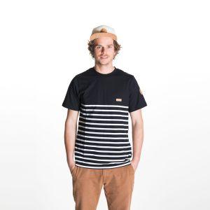 Nalu T-Shirt  Herren - endless local - schwarz/weiss