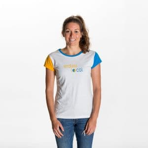 Inoa T-Shirt Damen - endless local - weiss/gelb