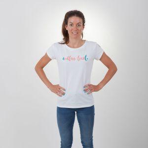 Ikona T-Shirt Damen - endless local - weiß/koral