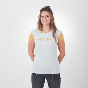 Ikona T-Shirt Damen - endless local - grau/honig