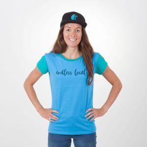 Ikona T-Shirt Damen - endless local - blau/lapis
