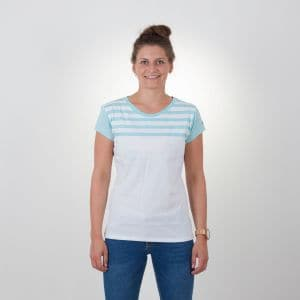 Laina T-Shirt Damen - endless local - weiß/turquoise