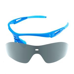 X-Kross Polarized small - Sziols - Shiny Blue - Grau