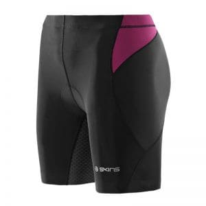 TRI400 Compression Tri Short - SKINS - schwarz-orchidee