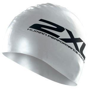 Silikon Schwimmkappe - 2XU - silber