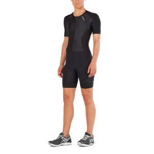 Compression Sleeved Trisuit Damen - 2XU - schwarz