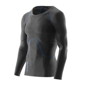 Compression LS Top Herren RY400 - Skins - graphite/blau