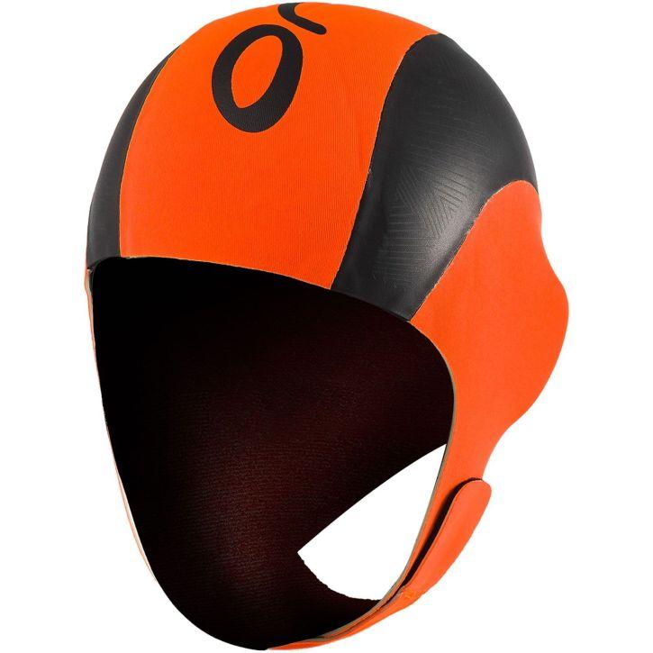 Orca Neopren Schwimmkappe unisex - orange/schwarz
