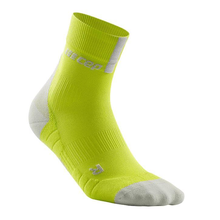 CEP Kompression Short Socks 3.0 Herren - lime/hellgrau
