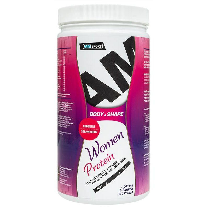 Women Protein Shake 600g - AMSport - Erdbeere