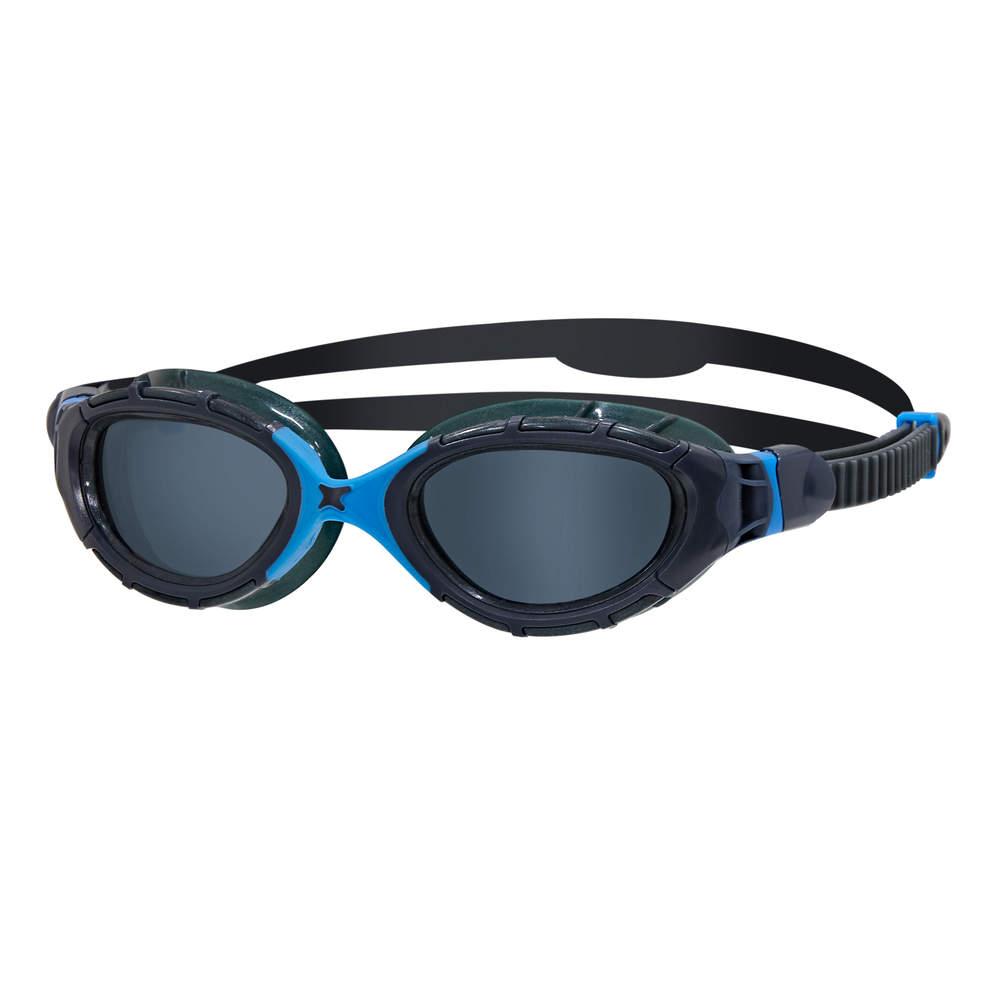 Zoggs Predator Flex regular - schwarz/blau/rauchgraues Glas