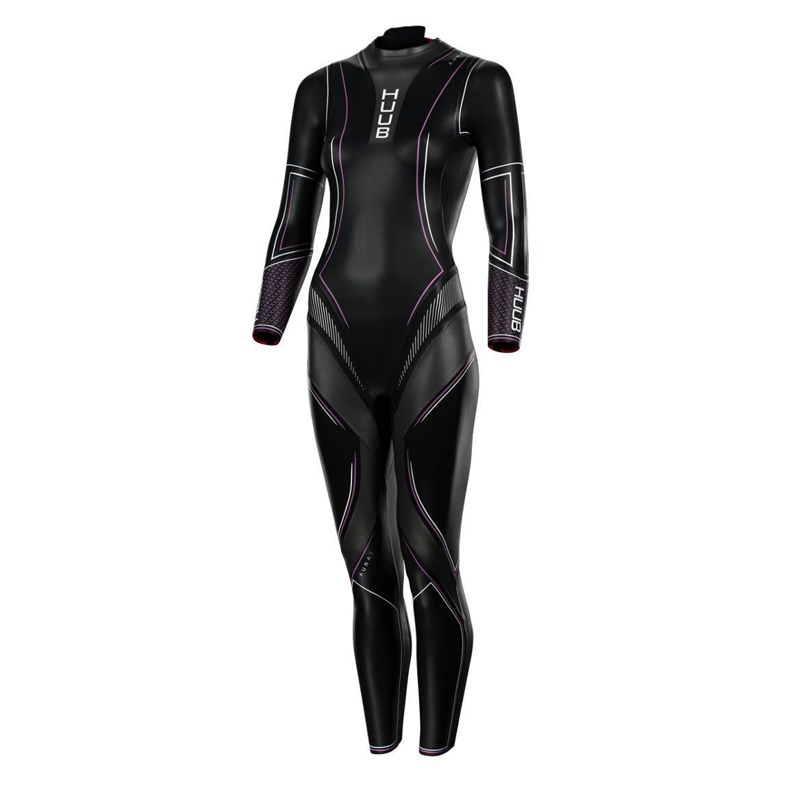 HUUB Aura II 3:3 Triathlon Neoprenanzug Damen - schwarz/lila