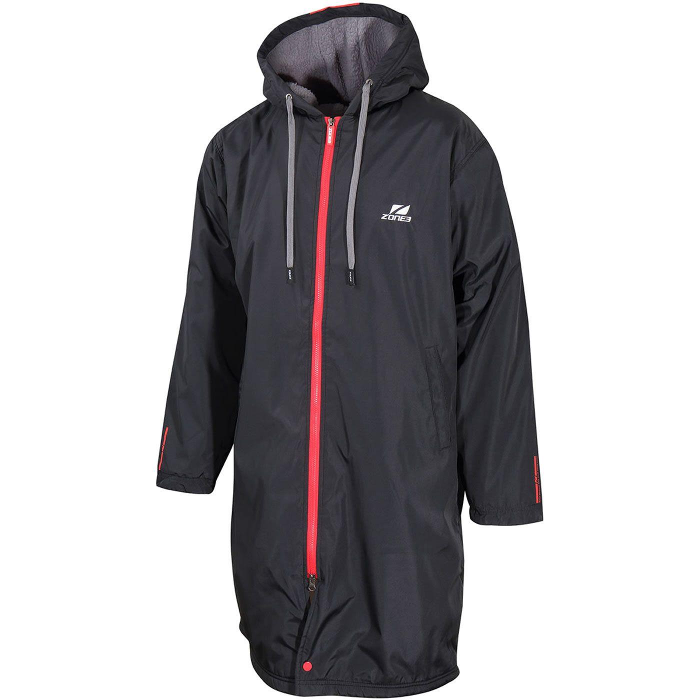 Zone3 Polar Fleece Jacket Unisex - schwarz/rot
