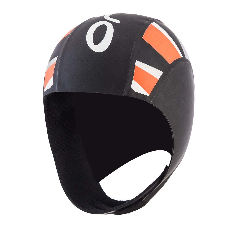 Thermal Neopren Schwimmkappe unisex - Orca - schwarz/orange