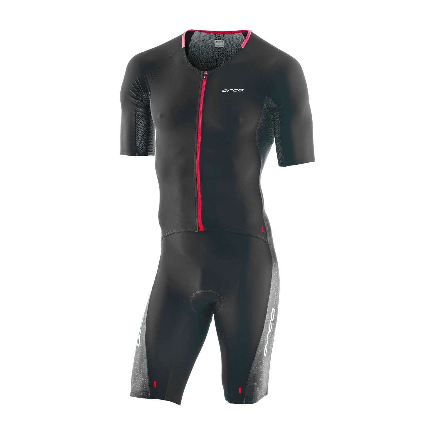 226 Perform Aero Race Suit Herren - Orca - schwarz/orange