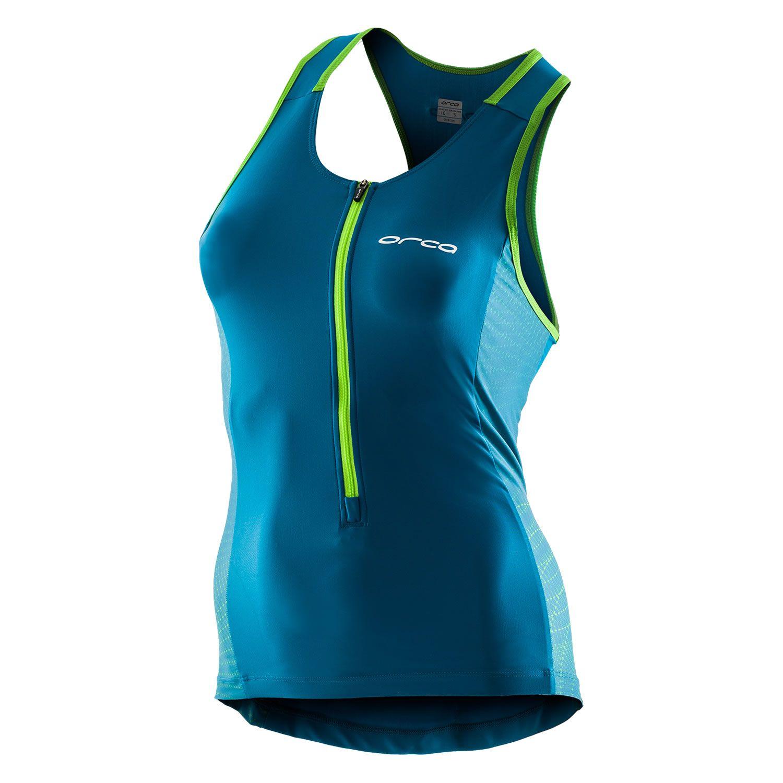 Orca Core Support Womens Triathlon Singlet Black Tri Top Cycling Running Swimmin