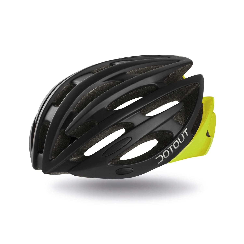 Dotout Shoy Fahrradhelm - schwarz/gelb