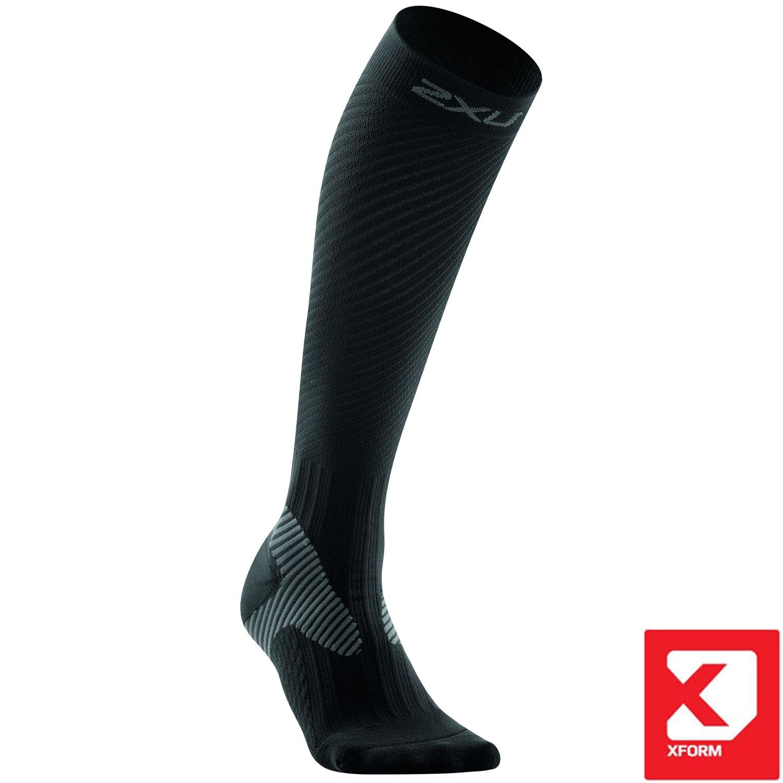Elite Kompressions Race Socks Damen - 2XU - schwarz-grau