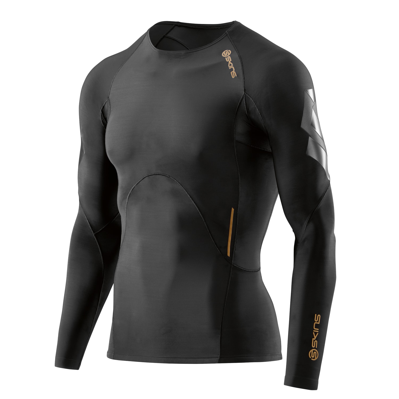 Compression A400 LS Top Men - Skins - black oblique 07c84dd7a