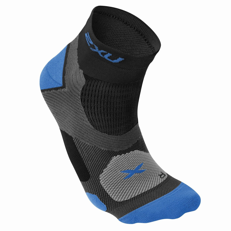 Training Vectr Sport Socken Herren - 2XU - schwarz/vibrant blau