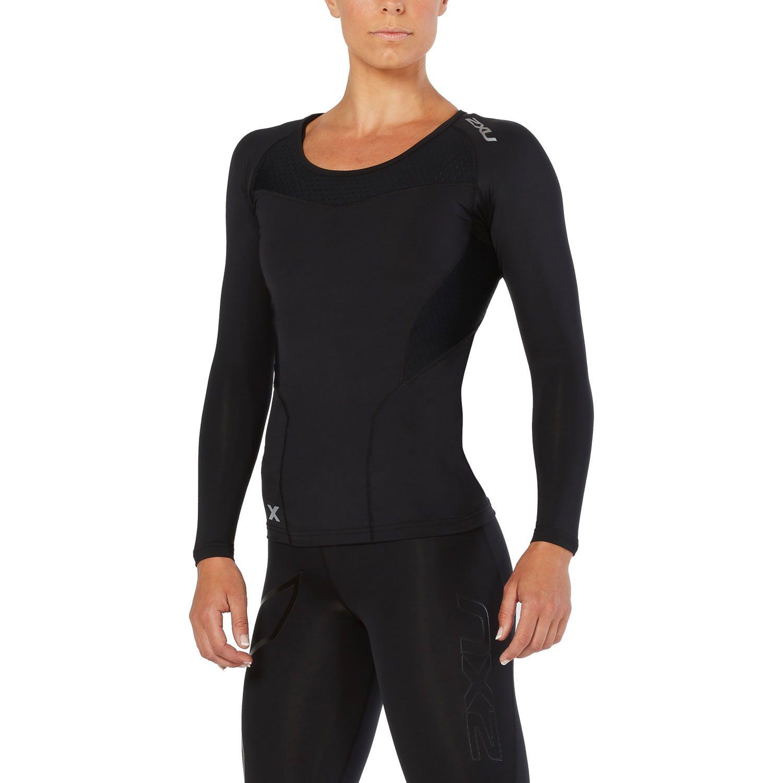 Kompressions Langarm-Shirt Damen - 2XU - schwarz