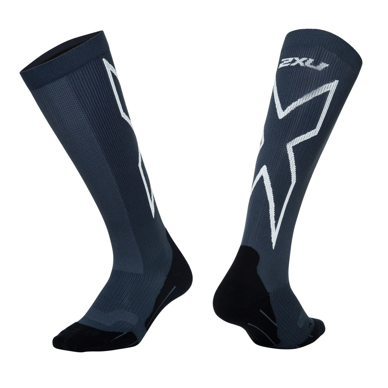 Kompressions Performance X Run Socken Damen - 2XU - titan/weiss