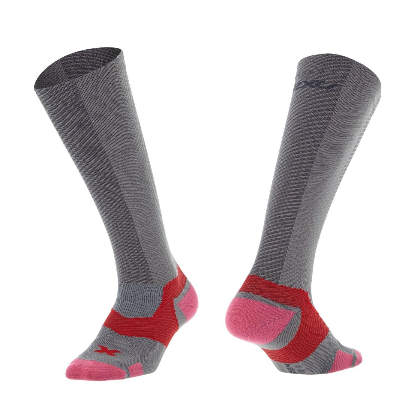 Elite X-LOCK Kompressions Socken Damen - 2XU - kohlegrau