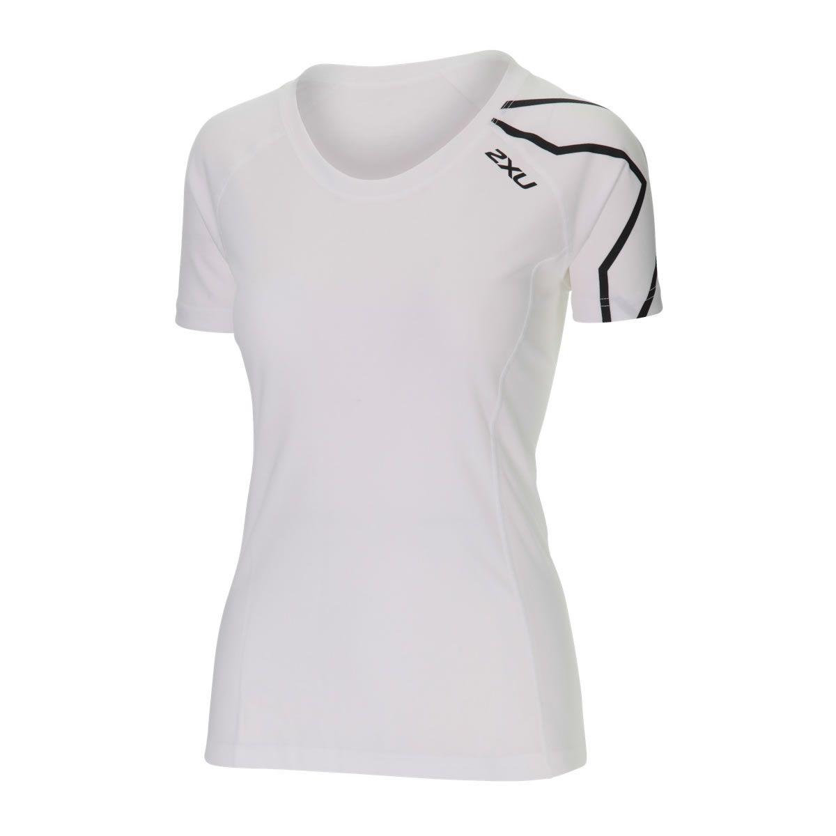 Active Laufshirt Damen - 2XU - weiss/schwarz