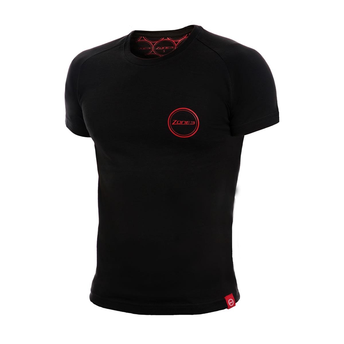 Marled Cotton SS T-Shirt Herren - Zone3 - schwarz/rot